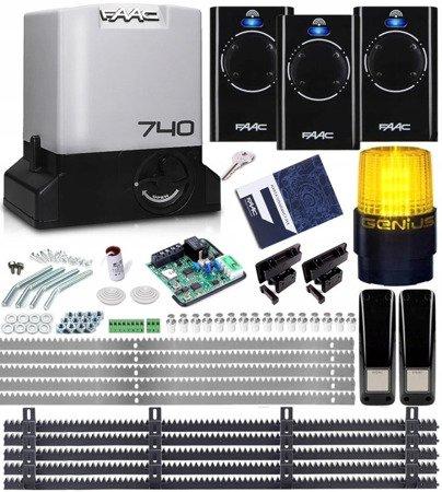Zestaw Delta2 FAAC 740 3xPilot 868 Lampa 5xListwa